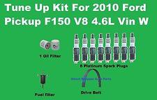Tune Up Kit for 2010 Ford Pickup F150 V8 4.6L Spark Plug, Oil Fuel Filter, Belt