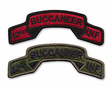 32nd Infantry Regiment Embroidered Tabs - BUCCANEERS - WWII Vietnam - OIF - OEF