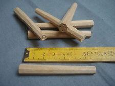 20 chevilles bois merisier 8 mm octogonales calibrées meuble fauteuil
