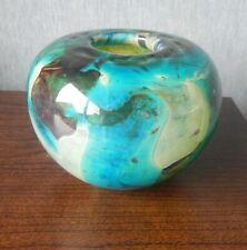 "Vintage Mdina Glass Inside Out Vase in the Tiger Pattern - 5"" Diameter"