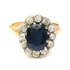 NYJEWEL Estate 14k Gold 3ctw Natural Sapphire & Diamond Ring Sz 4.25 w Appraisal