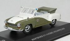1/43 scale Cars & Co CCC055 East German WARTBURG 311 KUBEL Volkspolizei NIB