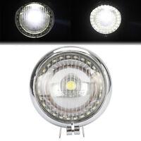 "5"" Chrome Headlight Spot Light LED Angel Eye For Suzuki Boulevard M109R M50 M90"