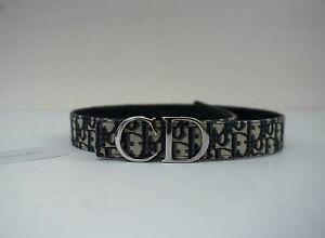 Christian Dior Men's Oblique Jacquard Belt w/ Silver CD Buckle size 75cm (27-30)