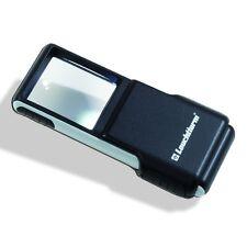 Lente tascabile luminosa LED a clip, ingrandimento 3 volte