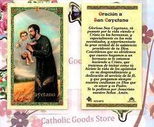 San Cayetano - Oracion a San Cayetano- Spanish - Laminated  Holy Card
