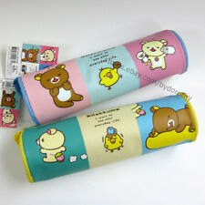 1x Cute Rilakkuma Cartoon Round Pencil Case Pen Zip Bag Organizer School Supply