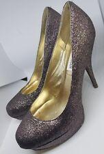 Steve Madden Caryssa Multi Glitter Platform Heels 10M