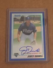 JAMES DARNELL 2010 Bowman Chrome BLUE Refractor AUTO #ed/150 Autograph Ref RC