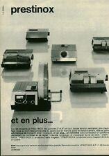 Publicité ancienne projecteurs Prestinox 1970