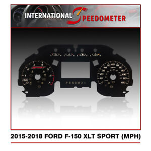 2015 - 2018 Ford F-150 XLT Sport Speedometer Faceplate (MPH)