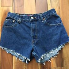 Levi's 505 Classic Relaxed Denim Cut Off Shorts, 100% Cotton, size 8