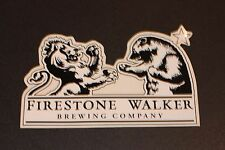 "FIRESTONE WALKER 5"" Bear Lion Logo STICKER decal craft beer brewery Wookey Jack"