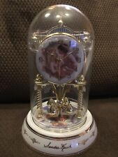 "9.5"" Tall Angel Accent Anniversary Glass Dome Clock"