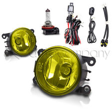 For 2016-2017 Nissan Titan Fog Lights Bumper Lamps w/Wiring Kit - Yellow