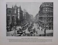 1896 London Aufdruck + Text Queen Victoria Strasse Mansion House Ende