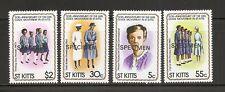 St Kitts SC # 82-85 Girl Guide Movement 50th Anniversary. (Specimen)  MNH