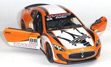 Maserati GranTurismo MC Stradale Special Edition Sammlermodell 1:38 orange metal