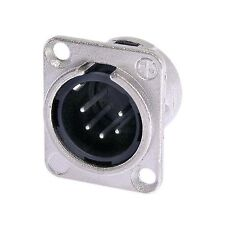 Neutrik NC5MD-L-1 5 PIN Male XLR Chassis Connector Socket Nickel D Type