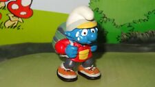 Smurfs New Hiker Smurf Hiking Backpack Rare Vintage Display 2000 Figurine