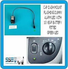Car Dummy Flashing Green LED - No Wiring Required - Fit and Flash - 10 Yr Batt