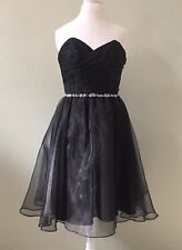 Alfred Angelo Black Prom Cocktail Formal Easter Beaded Party Dress Size 12