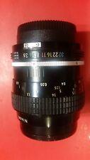 Nikon Nikkor 55mm f3.5 Lens Ai version Manual focus Wide-Angle Prime Lens W/ Cap