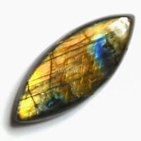 Cts. 25.65 Natural Sunset Fire Labradorite Cab Marquees Cabochon Loose Gemstone