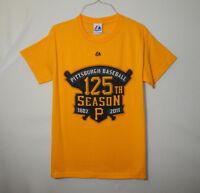 fe969887c5d Pittsburgh Pirates 125th Season MLB Baseball T Shirt Majestic Size SMALL S