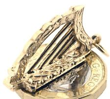 Vintage, Hallmarked 1968 Solid Gold Irish Harp Guinness Charm We ship Worldwide!