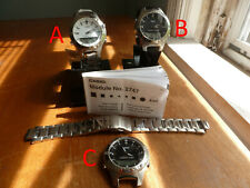 Lot of 3 Casio EFA 110 stainless steel analog digital watches.