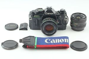 {NEAR MINT 2Lens} CANON AE-1 PROGRAM + New FD 50mm F/1.8 + 28mm F/2.8 JAPAN #747