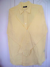 XL XLarge Yellow Nautica Mens Long Sleeve Button Front  Long Sleeve Cotton Shirt