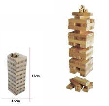 Mini Torre Verticale Puzzle Legno Numeri Dadi Gioco Educativo Bambini dfh