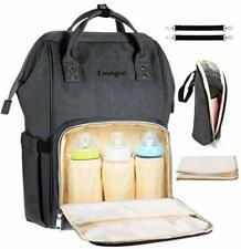 Diaper Bag Backpack Multi-Function Waterproof Travel Backpack Mommy (Dark Grey)