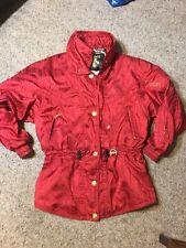 DESCENTE Woman Snow Ski Vintage Snowboard Metallic Red Gold Coat Jacket Size 12