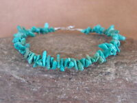 Native Indian Hand Strung Turquoise Chip Bracelet by Yazzie