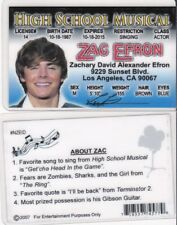 High School Musical Zac Efron Desperate Housewives id card Drivers License