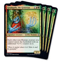 4x Grumgully, the Generous - Throne of Eldraine - NM - Playset - English - MTG