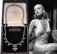 VINTAGE ART DECO MARQUISE CUT DIAMOND RHINESTONE NECKLACE BRIDAL BEAUTIFUL GIFT