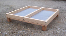"XX-Large 20"" x 20"" Cedar Ground Platform Bird Feeder w Screen"