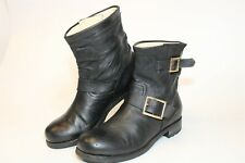 Jimmy Choo London Womens Size 7.5 37.5 Leather Short Italy Made Youth Boots