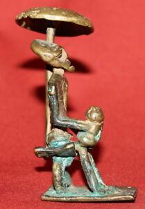 Antique African Ashanti Handcrafted Bronze Art Work Male Figurine