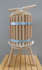 Wooden Wine Press 30 Liters 8 Gallon Grape Crusher Cider Fruit Press Oak Basket