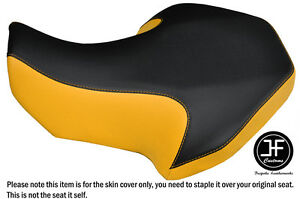 BLACK AND YELLOW VINYL CUSTOM FITS SUZUKI LT 80 1987-2005 SEAT COVER ONLY