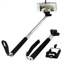Black Adjustable Monopod Selfie Stick For BlackBerry KEYone DTEK60 DTEK 50 Leap