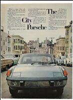 Porsche 914 Blue Automobile 1973 Print Ad ~ The San Francisco City Porsche