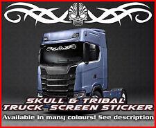 Skull Tribal Lorry Truck wind screen sticker Glass Cab Window HGV MAN DAF TGX