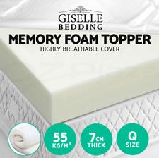 Visco Elastic Memory Foam Topper 7cm Queen Mattress
