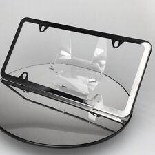 Powder Coate Black Chrome License Plate Slim 4 Hole Stainless Steel Frame Holder
